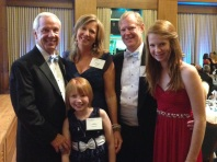 Family shot with Roy Williams