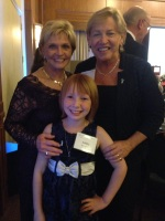 Ash with Bev Purdue and Sylvia Hatchell