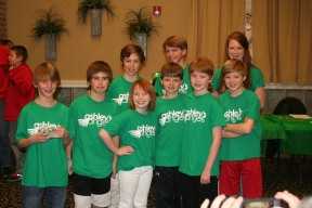 Supportive friends at St. Baldrick's