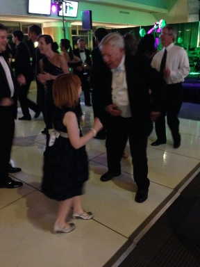 Cutting a rug with Pop at the Foot Ball